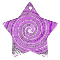 Digital Purple Party Pattern Star Ornament (Two Sides)
