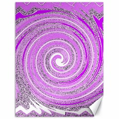 Digital Purple Party Pattern Canvas 18  x 24