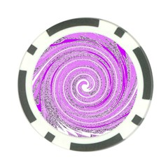 Digital Purple Party Pattern Poker Chip Card Guard
