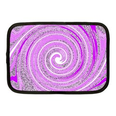 Digital Purple Party Pattern Netbook Case (Medium)