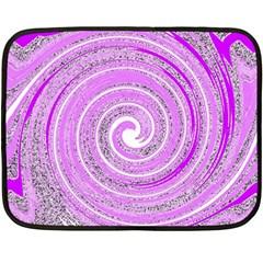 Digital Purple Party Pattern Fleece Blanket (Mini)