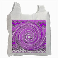 Digital Purple Party Pattern Recycle Bag (one Side)