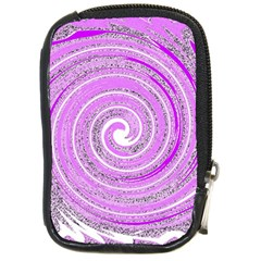 Digital Purple Party Pattern Compact Camera Cases