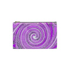 Digital Purple Party Pattern Cosmetic Bag (Small)