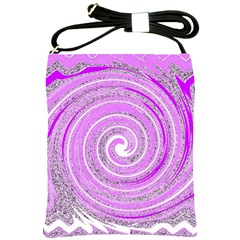 Digital Purple Party Pattern Shoulder Sling Bags