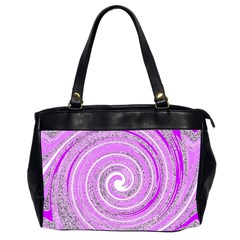 Digital Purple Party Pattern Office Handbags (2 Sides)