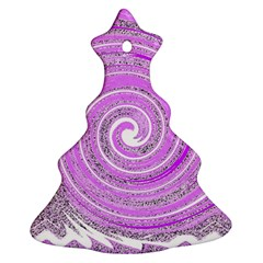 Digital Purple Party Pattern Ornament (Christmas Tree)