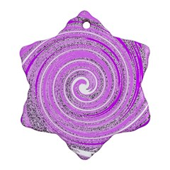 Digital Purple Party Pattern Snowflake Ornament (Two Sides)
