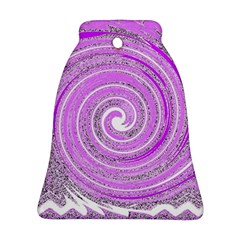 Digital Purple Party Pattern Bell Ornament (Two Sides)