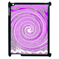 Digital Purple Party Pattern Apple Ipad 2 Case (black)