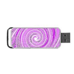 Digital Purple Party Pattern Portable USB Flash (Two Sides)