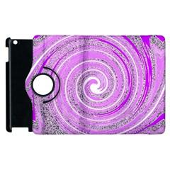 Digital Purple Party Pattern Apple iPad 3/4 Flip 360 Case