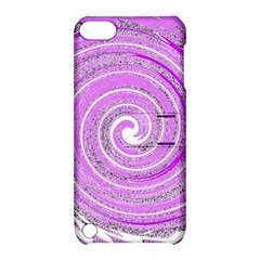 Digital Purple Party Pattern Apple Ipod Touch 5 Hardshell Case With Stand