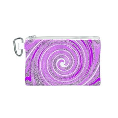 Digital Purple Party Pattern Canvas Cosmetic Bag (s)