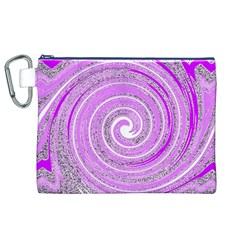 Digital Purple Party Pattern Canvas Cosmetic Bag (XL)
