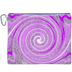 Digital Purple Party Pattern Canvas Cosmetic Bag (xxxl)