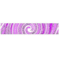 Digital Purple Party Pattern Flano Scarf (Large)