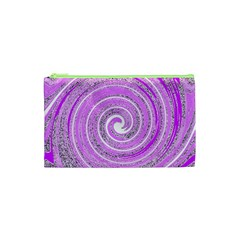 Digital Purple Party Pattern Cosmetic Bag (XS)