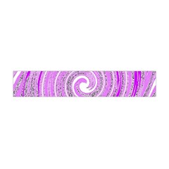 Digital Purple Party Pattern Flano Scarf (Mini)