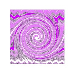 Digital Purple Party Pattern Small Satin Scarf (square)