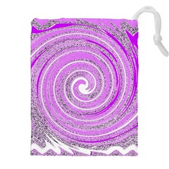Digital Purple Party Pattern Drawstring Pouches (XXL)