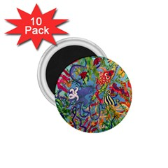 Dubai Abstract Art 1.75  Magnets (10 pack)