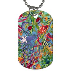 Dubai Abstract Art Dog Tag (One Side)