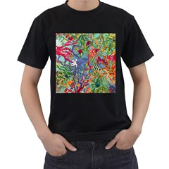 Dubai Abstract Art Men s T-Shirt (Black) (Two Sided)