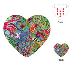 Dubai Abstract Art Playing Cards (Heart)