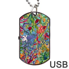 Dubai Abstract Art Dog Tag USB Flash (Two Sides)