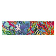 Dubai Abstract Art Satin Scarf (Oblong)