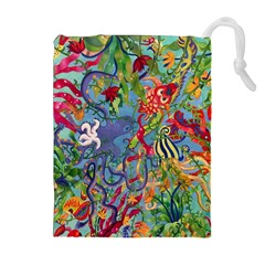 Dubai Abstract Art Drawstring Pouches (Extra Large)