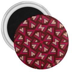 Digital Raspberry Pink Colorful 3  Magnets