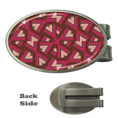 Digital Raspberry Pink Colorful Money Clips (Oval)