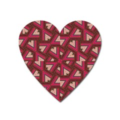 Digital Raspberry Pink Colorful Heart Magnet