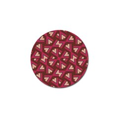 Digital Raspberry Pink Colorful Golf Ball Marker (4 pack)