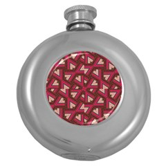 Digital Raspberry Pink Colorful Round Hip Flask (5 oz)
