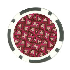 Digital Raspberry Pink Colorful Poker Chip Card Guard (10 pack)