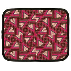 Digital Raspberry Pink Colorful Netbook Case (XL)