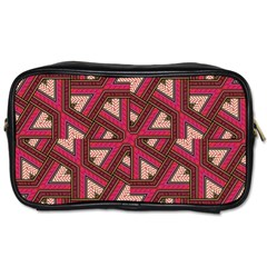 Digital Raspberry Pink Colorful Toiletries Bags