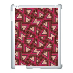 Digital Raspberry Pink Colorful Apple iPad 3/4 Case (White)