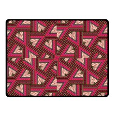 Digital Raspberry Pink Colorful Double Sided Fleece Blanket (small)