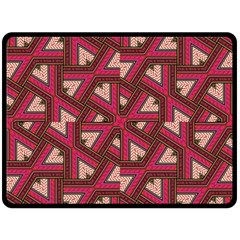 Digital Raspberry Pink Colorful Double Sided Fleece Blanket (Large)