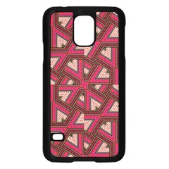 Digital Raspberry Pink Colorful Samsung Galaxy S5 Case (black)
