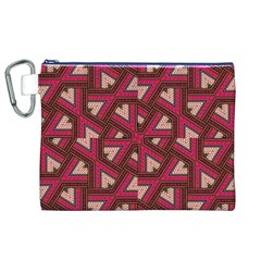 Digital Raspberry Pink Colorful Canvas Cosmetic Bag (XL)