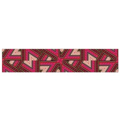 Digital Raspberry Pink Colorful Flano Scarf (small)