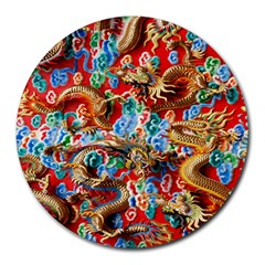 Dragons China Thailand Ornament Round Mousepads