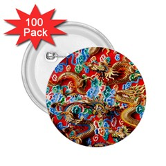 Dragons China Thailand Ornament 2 25  Buttons (100 Pack)