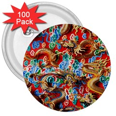 Dragons China Thailand Ornament 3  Buttons (100 pack)