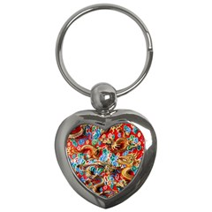 Dragons China Thailand Ornament Key Chains (Heart)